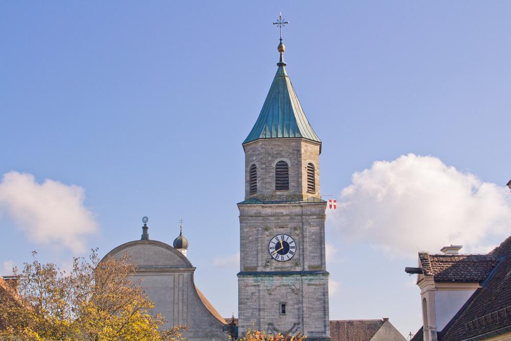 Die Stiftskirche von außen. (Foto: Gemeinde Polling)